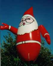 Santa helium advertising inflatable