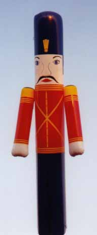 Toy soldier helium balloon for parades and events.